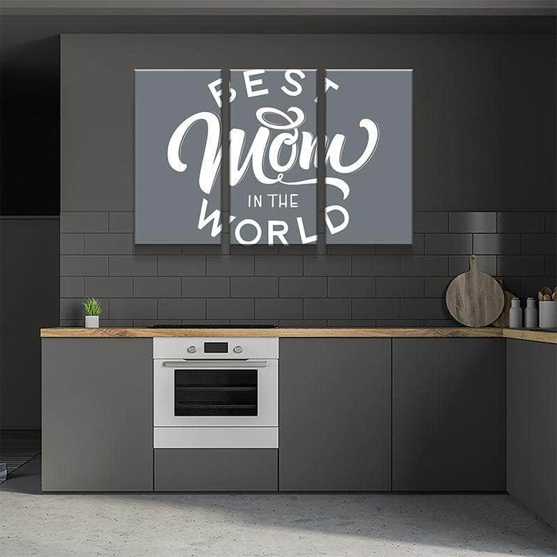 Best Mom In The World Canvas Set
