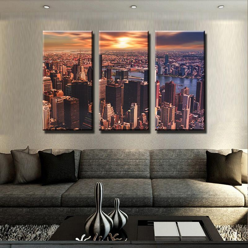 Big Apple Sunset Canvas Set