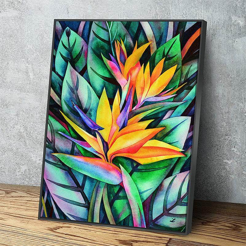 Bird of Paradise Canvas Set