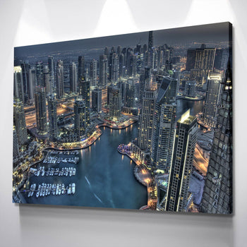Bird's Eye of Dubai Canvas Set
