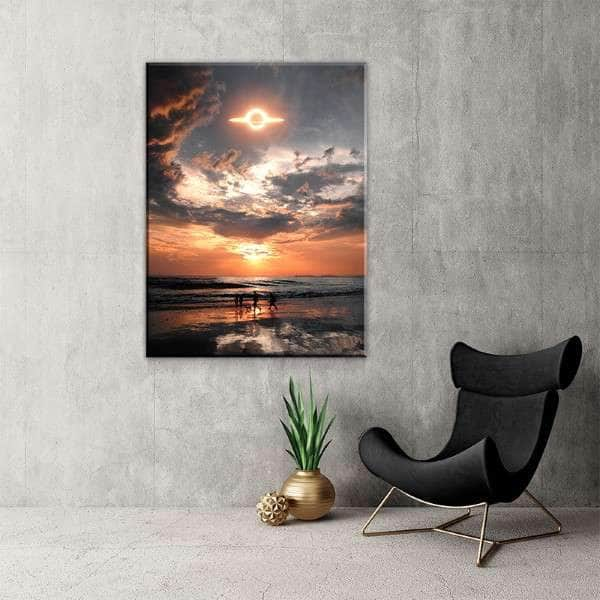 Sunset Saturn Canvas Set