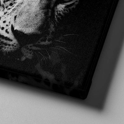 Black and White Leopard Canvas Set