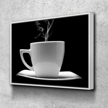 Black and White Coffee Canvas Set