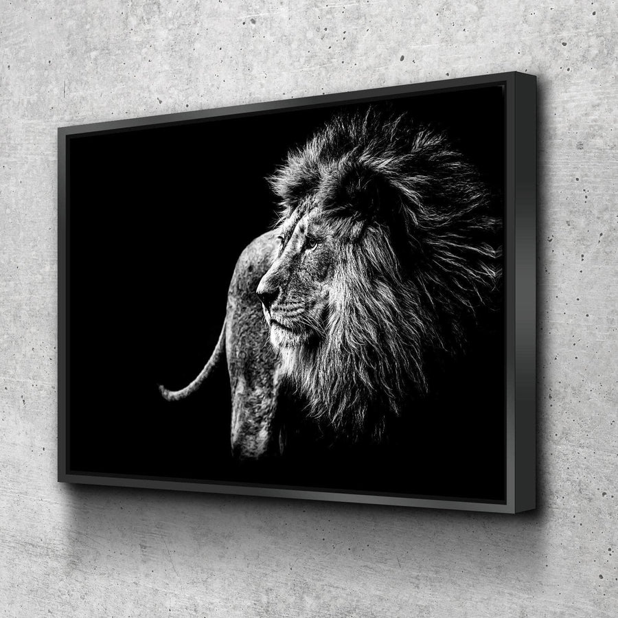 Black and White Lion Canvas Set