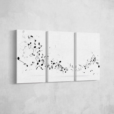 Black and White Notes Canvas Set