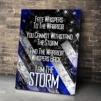 Blue Line Whisper Canvas Set