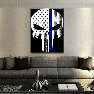 Thin Blue Line Punisher Canvas Set