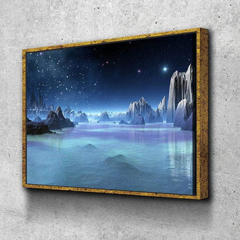 Blue Space Oasis Canvas Set