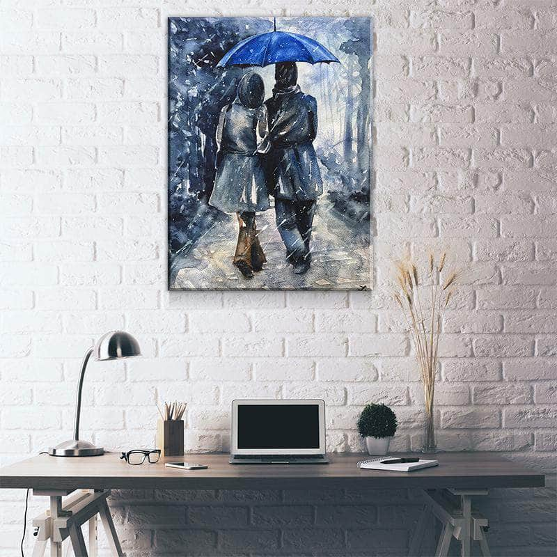 Blue Umbrella Canvas Set