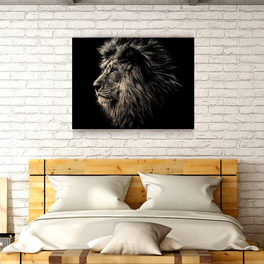 Blue Eyed Lion Wooden Wall Decor