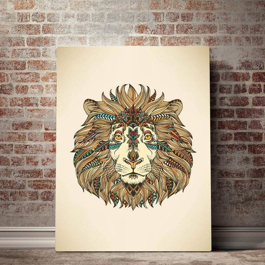 Bohemian Lion Canvas Set