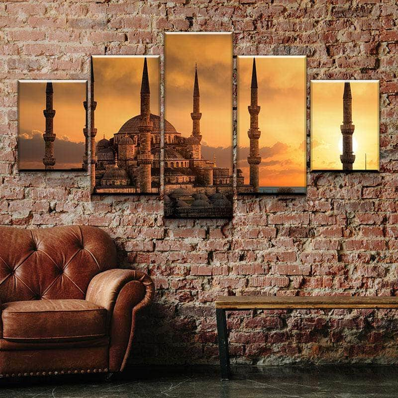 Blue Mosque Canvas Set