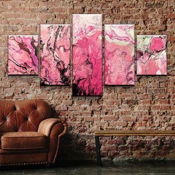 Pink Marble Canvas Set
