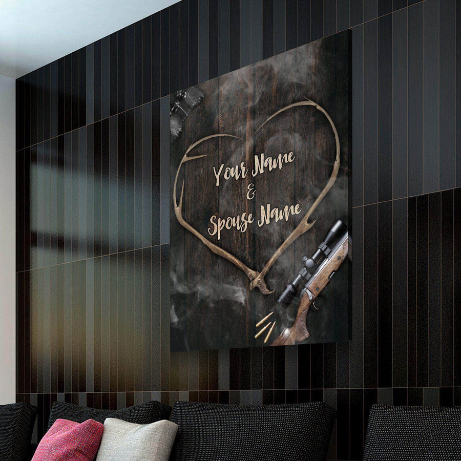 Custom Personalized Bucking Love Canvas Set