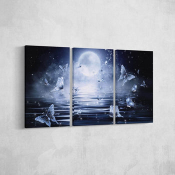 Butterfly Moon Canvas Set