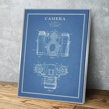Camera Patent Print | Canvas Set