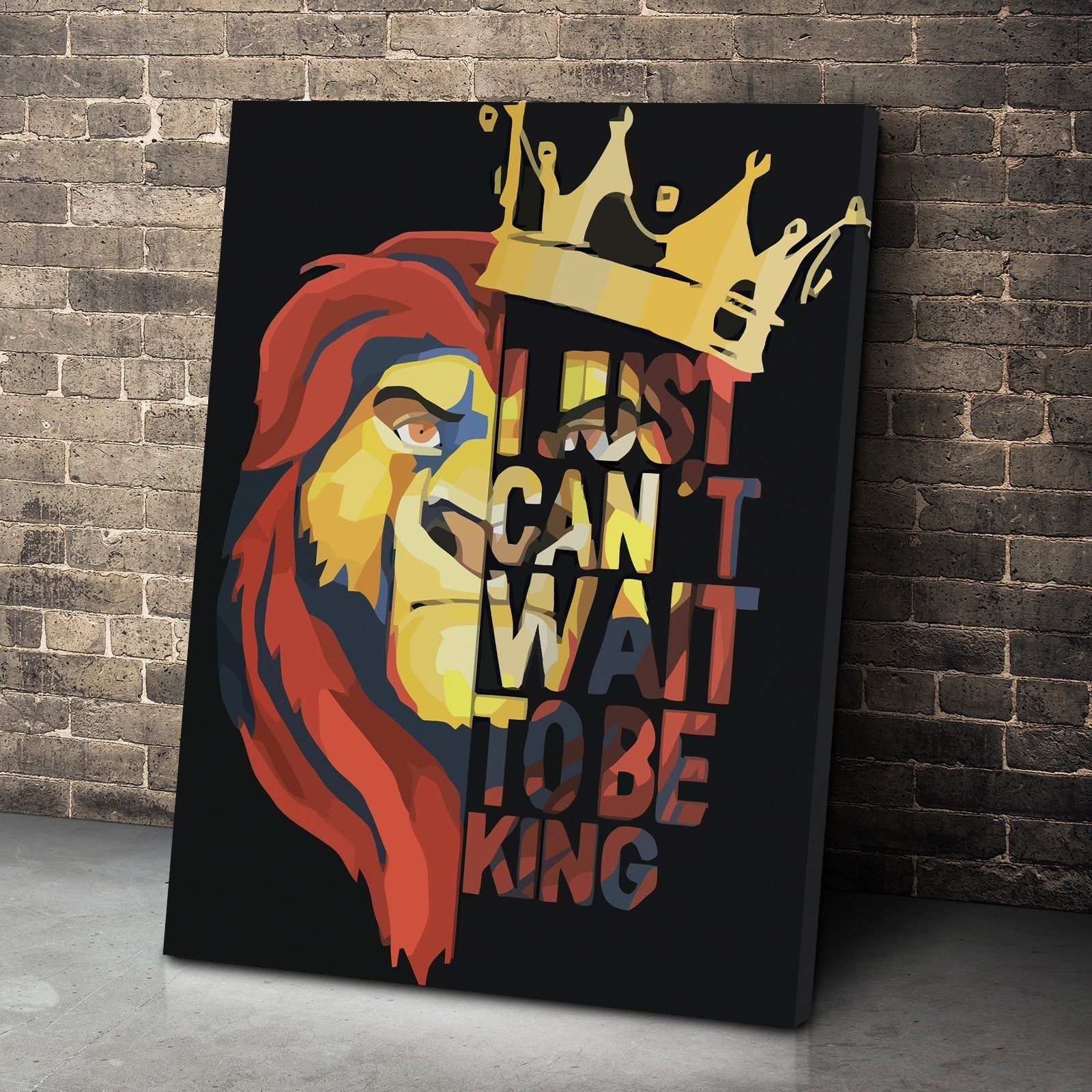 can t wait to be king canvas set canvas freaks
