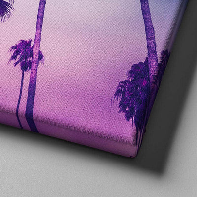 Purple Palms Sunset Canvas Set