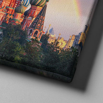 Red Square Moscow Canvas Set
