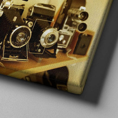 Shelf of Cameras Canvas Set