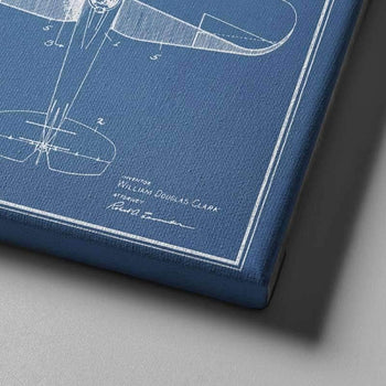 Biplane Patent Print | Canvas Set