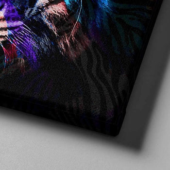 Warrior Colored Tiger Canvas Set