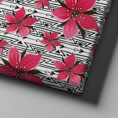 Pink Flowers Canvas Set