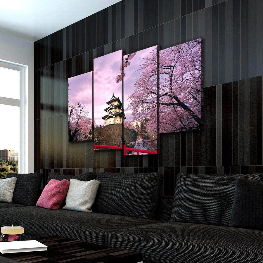 Cherry Blossom Japan Canvas Set