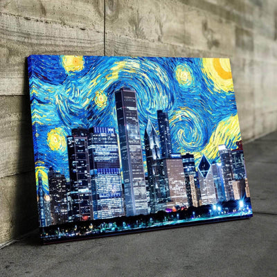 Chicago Starry Night Canvas Set
