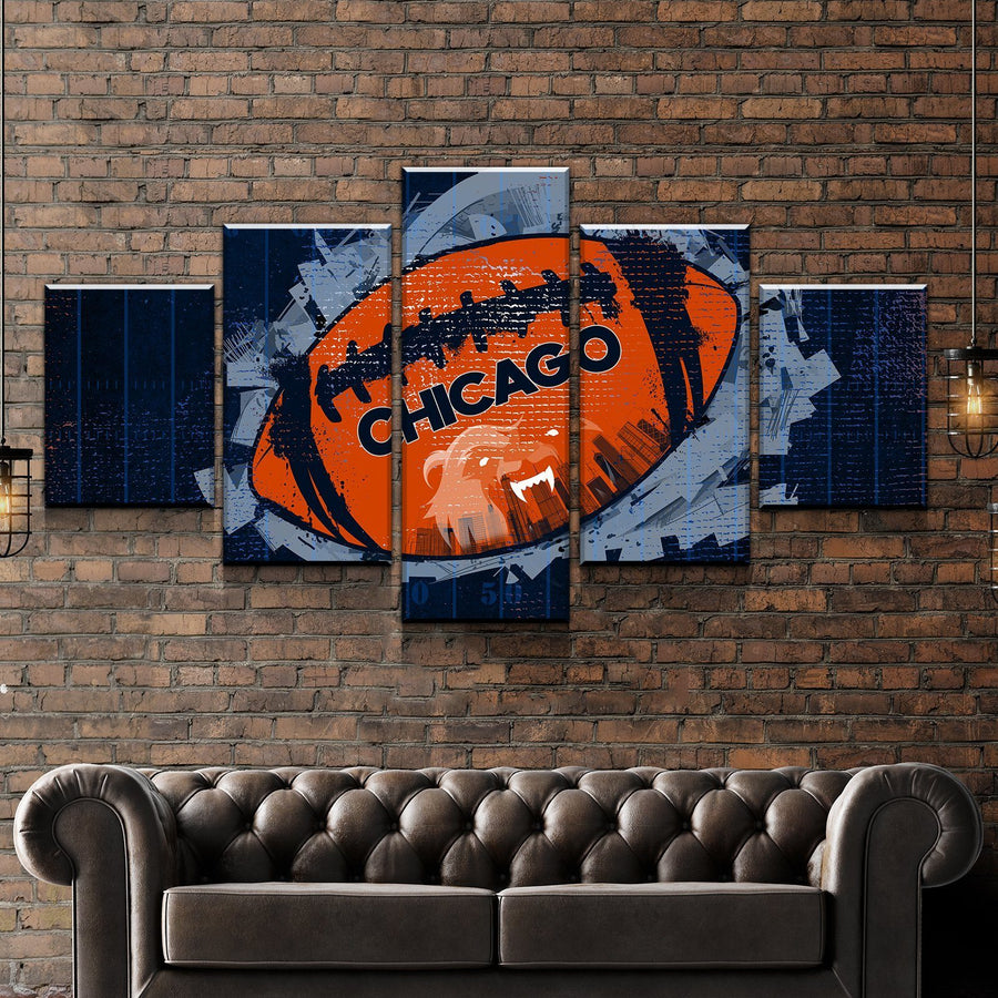 Chicago Football Canvas Set