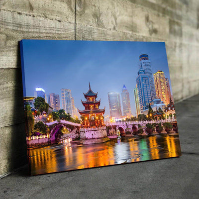 Chinese Temple Canvas Set