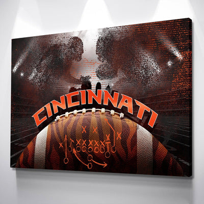 Cincinnati Football Canvas Set