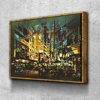 City Night Life Canvas Set