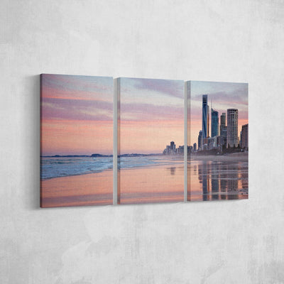 City Meets the Beach Canvas Set