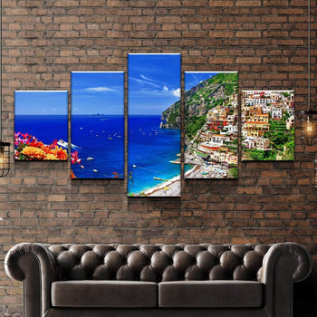 Coast of Amalfi Italy Canvas Set