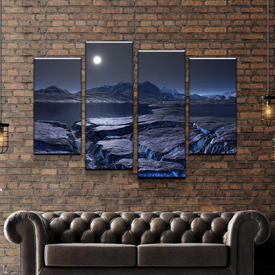 Cool Blue Cliff Canvas Set