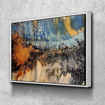 Copper Blue Serenade Canvas Set