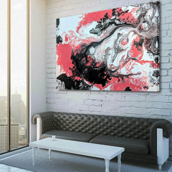Abstract Coral Overture Canvas Set