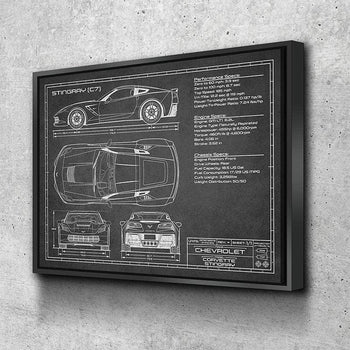Corvette (C7) Stingray | 2014-2019 | Canvas Set