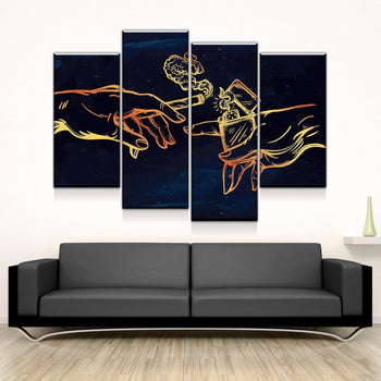 The Creation of Cannabis Canvas Set