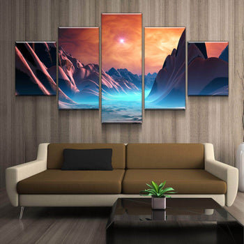 Crimson Planet Canvas Set