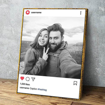 Custom Personalized Insta Couple Canvas Set