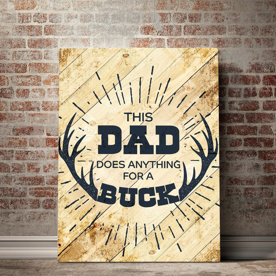 Dad's Buck Father's Day Canvas Set