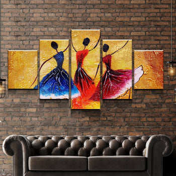 Dancing Abstract Canvas Set