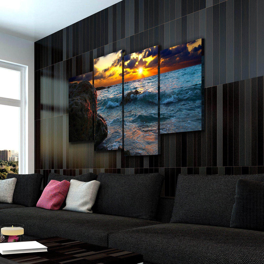 Dark Sunset Canvas Set