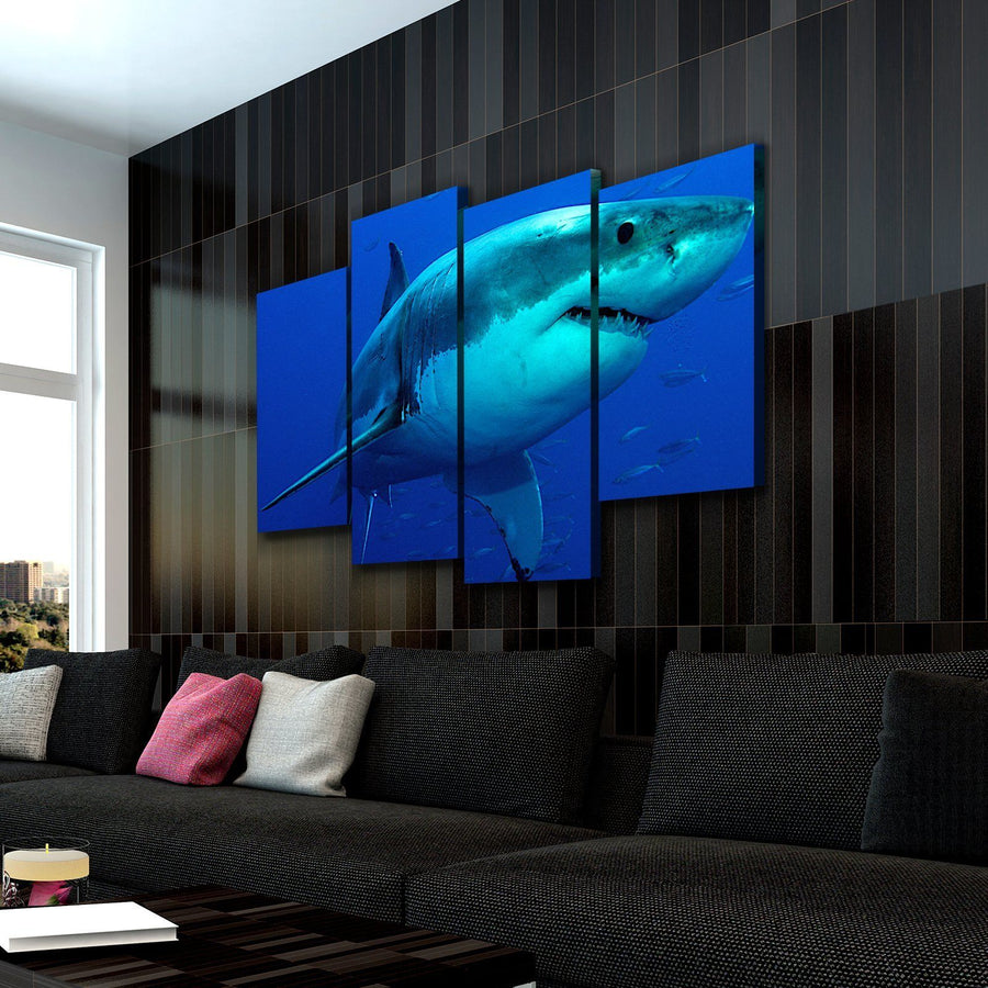 Deep Blue Shark Canvas Set