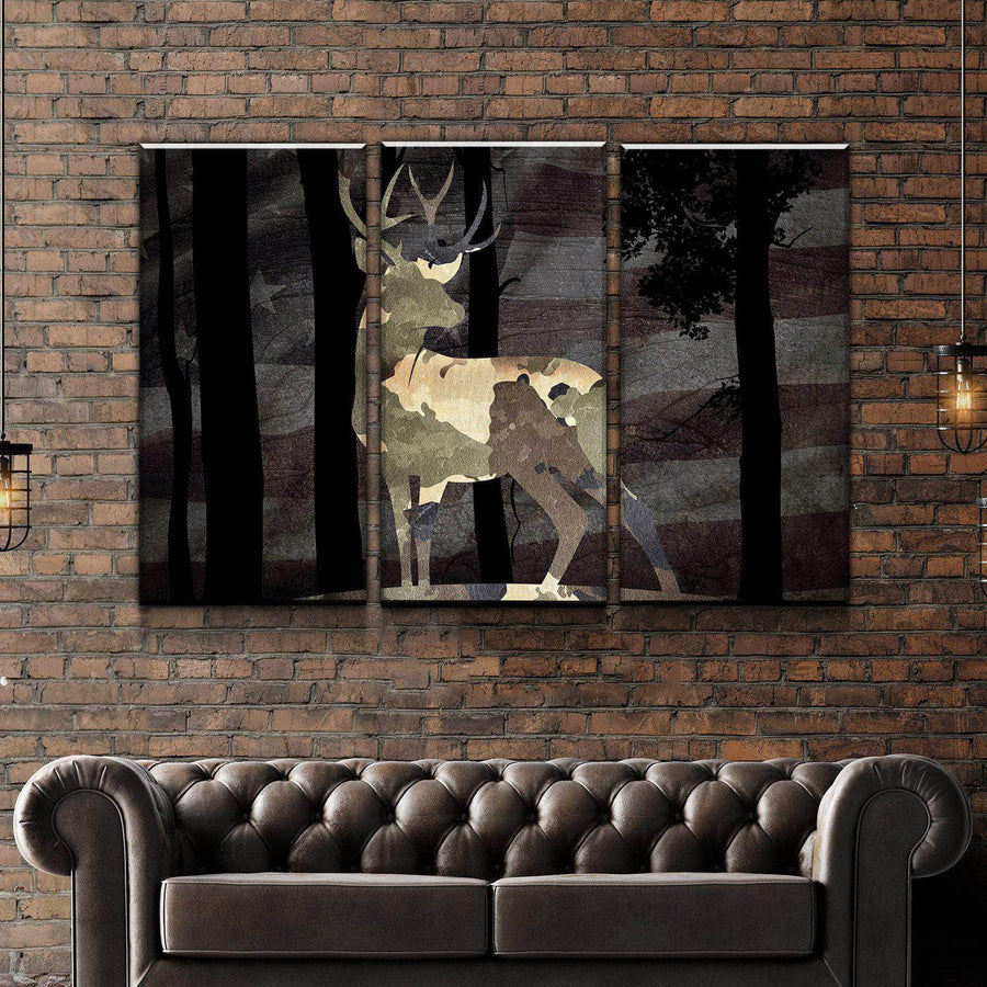 American Stag Canvas Set