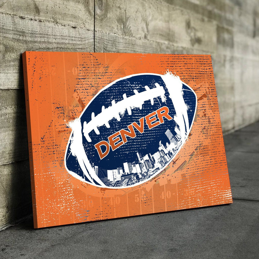 Denver Football Canvas Set