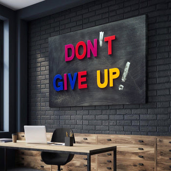 Don't Give Up! Canvas Set