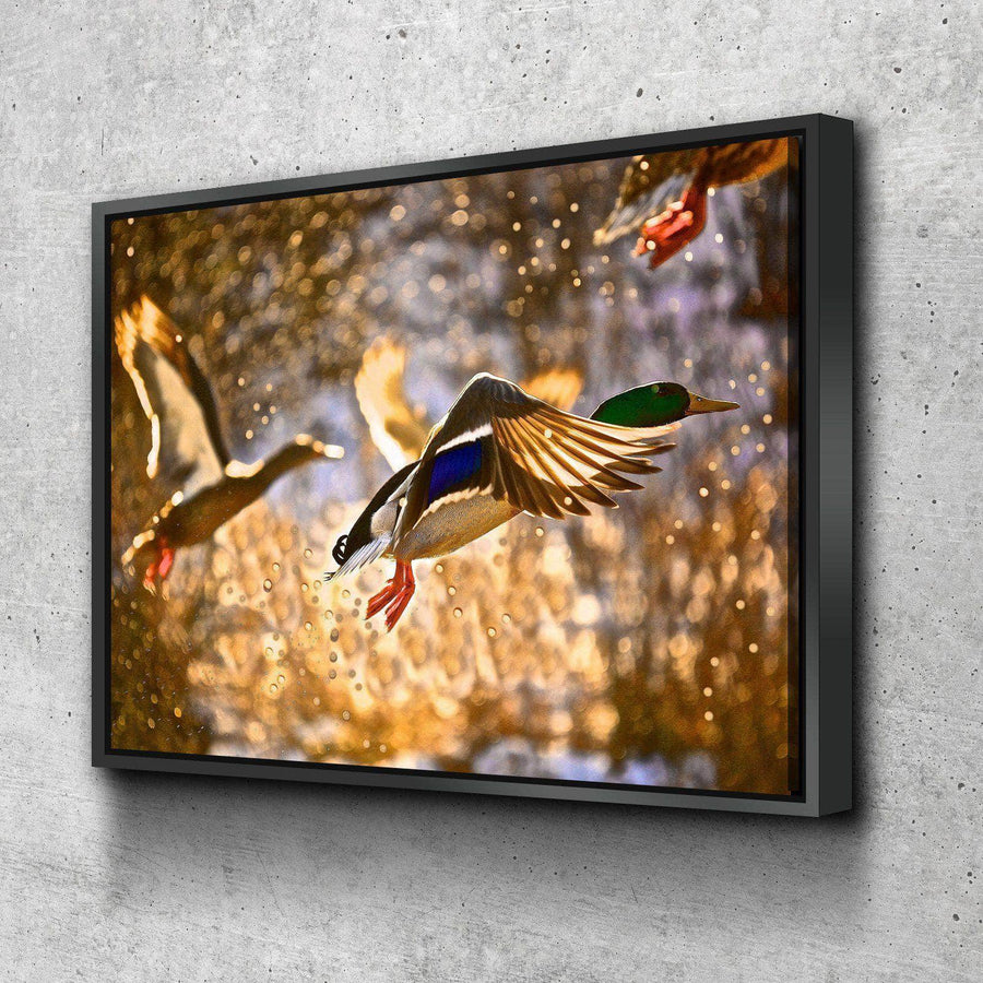 Ducks Flying Canvas Set